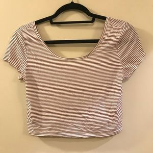 American Eagle Outfitters Tops - S American Eagle Maroon crop top